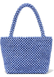 Loeffler Randall Woman Mina Beaded Tote Blue