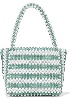 Loeffler Randall Woman Mina Beaded Tote Teal