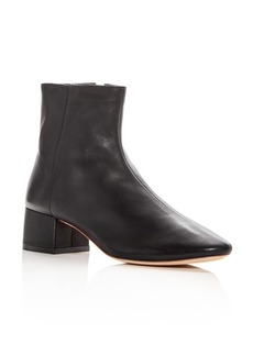 Loeffler Randall Women's Carter Leather Block Heel Booties