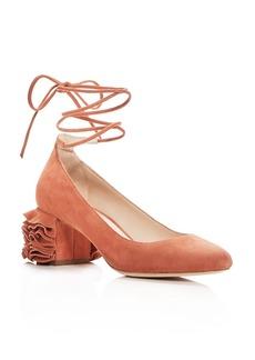 Loeffler Randall Women's Clea Suede Ankle Tie Pumps