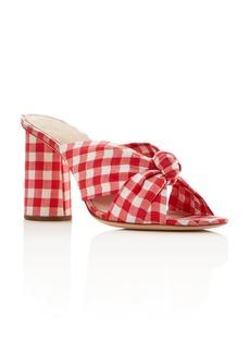 Loeffler Randall Women's Coco Gingham Print High-Heeled Sandals