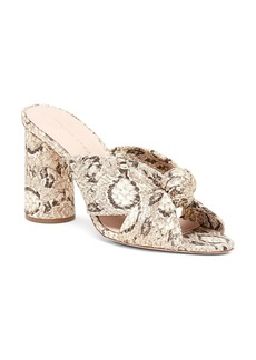 Loeffler Randall Women's Coco Snakeskin-Embossed Leather Round Block-Heel Mules