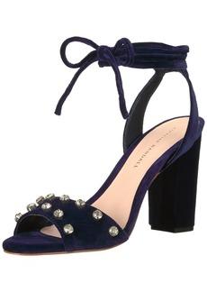 Loeffler Randall Women's Elayna Ankle Tie High Heel Sandal (Leather/Rhinestones) Heeled   B US