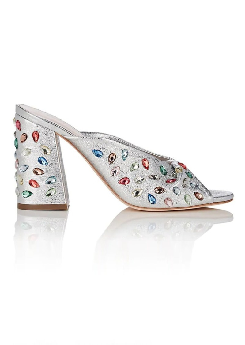 Loeffler Randall Women's Embellished Metallic Leather Sandals