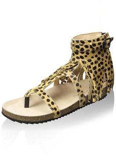 Loeffler Randall Women's Fringe Cork Sandal