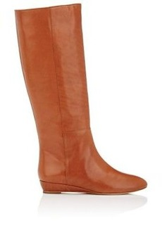 Loeffler Randall Women's Matilde Leather Wedge Knee Boots