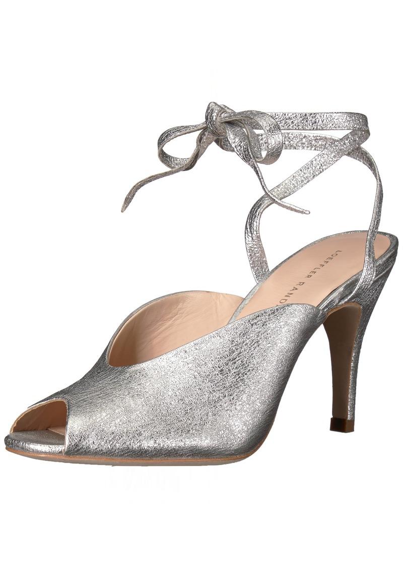 Loeffler Randall Women's Mila (Crinkle Metallic) Heeled Sandal