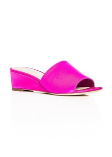 Loeffler Randall Women's Tilly Satin Wedge Slide Sandals