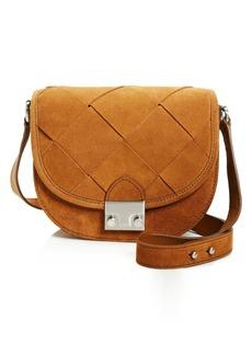 Loeffler Randall Woven Suede Saddle Bag - 100% Bloomingdale's Exclusive