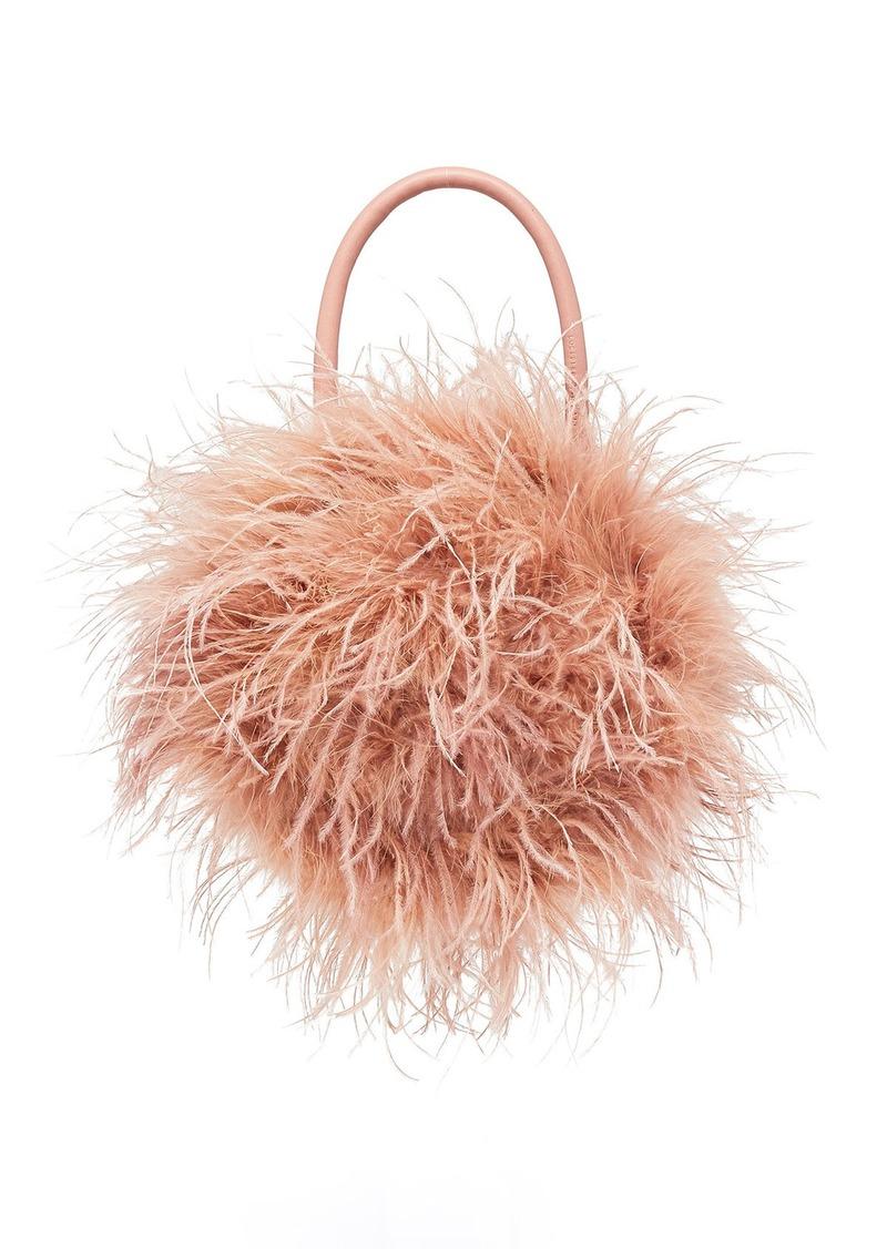 Loeffler Randall Zadie Ostrich Feather Top Handle Bag