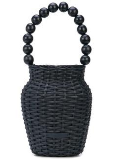 Loeffler Randall Louise wicker bucket bag