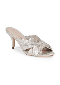 Loeffler Randall Luisa Metallic Leather Knot Mule Sandals