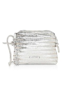 Loeffler Randall Mallory Woven Metallic Leather Crossbody Bag