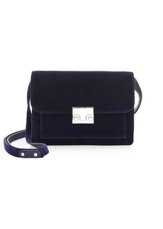 Loeffler Randall Mini Minimal Rider Velvet Shoulder Bag