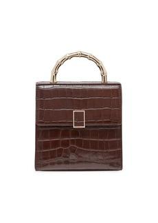 Loeffler Randall Mini Tani Croc-Embossed Leather Crossbody Bag