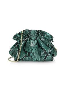 Loeffler Randall Mini Willa Snakeskin-Embossed Leather Clutch