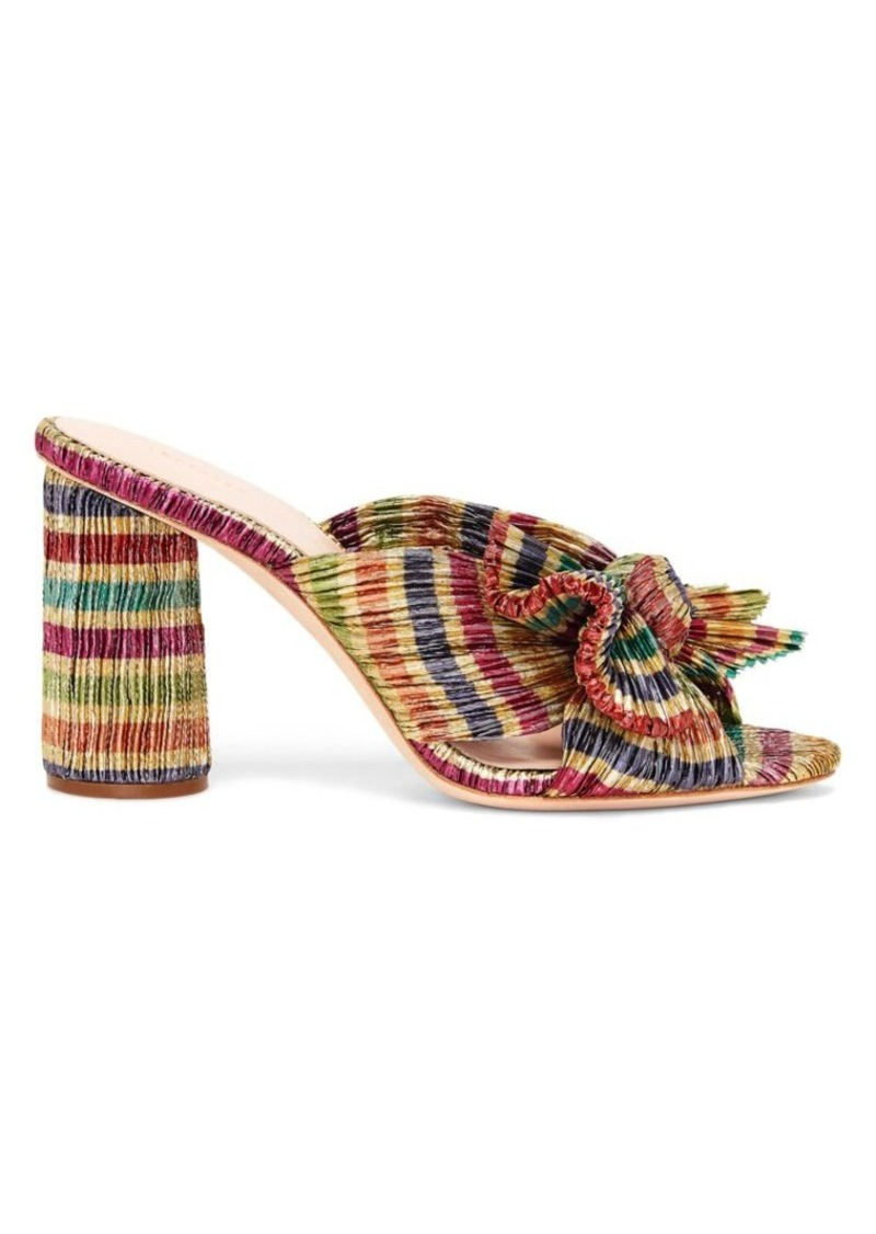 Loeffler Randall Penny Knotted Candy Stripe Mules