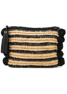 Loeffler Randall Randall striped clutch bag
