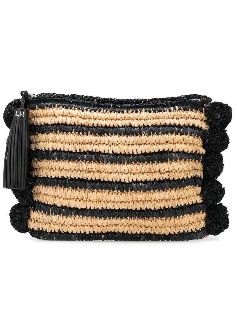 Loeffler Randall Randall striped clutch bag