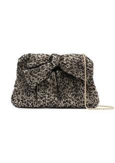 Loeffler Randall Rayne leopard-print pleated clutch