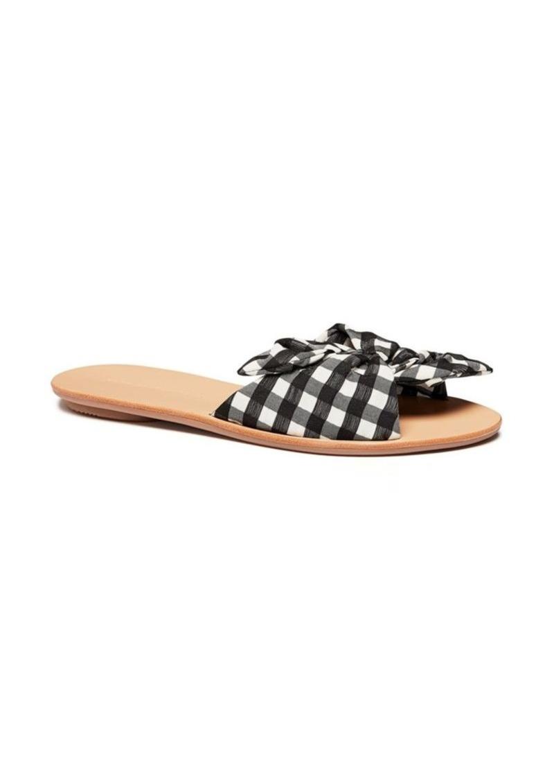 Loeffler Randall Phoebe Knotted Gingham Slide Sandals