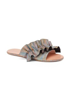 Loeffler Randall Rey Ruffled Leather Slides