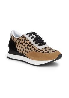 Loeffler Randall Rio Leopard-Print Calf Hair & Suede Sneakers