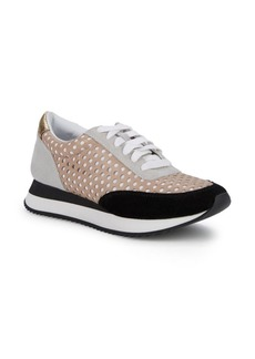 Loeffler Randall Rio Perforated Leather Sneakers