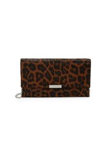 Loeffler Randall Small Leopard Calf Hair Crossbody Bag