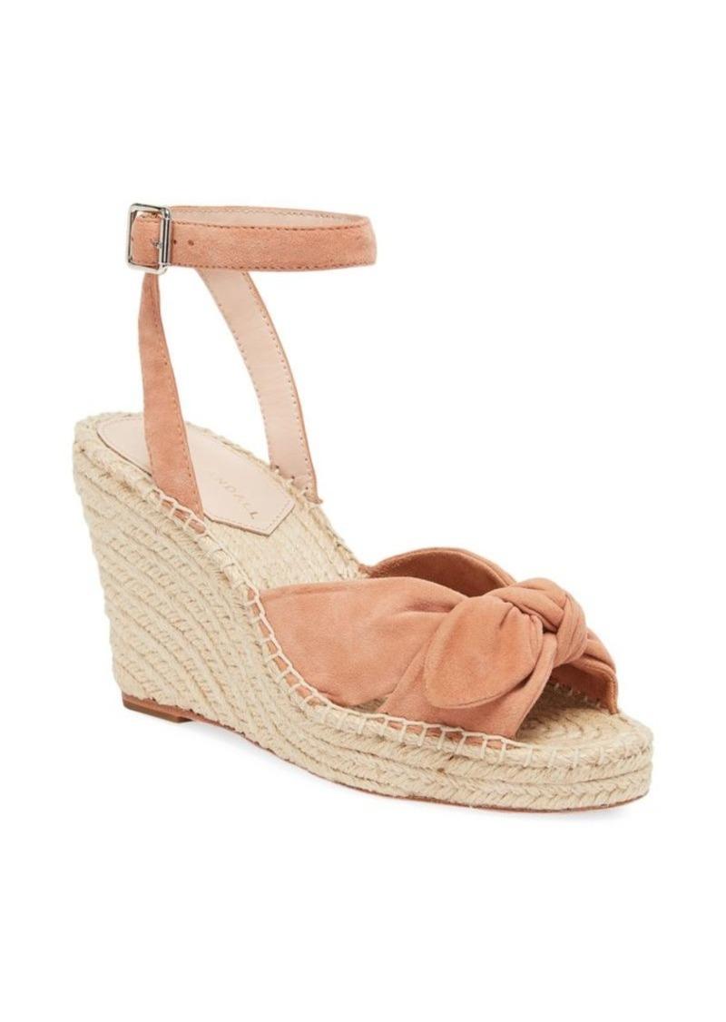 Loeffler Randall Tessa Bow Suede Espadrille Wedge Sandals