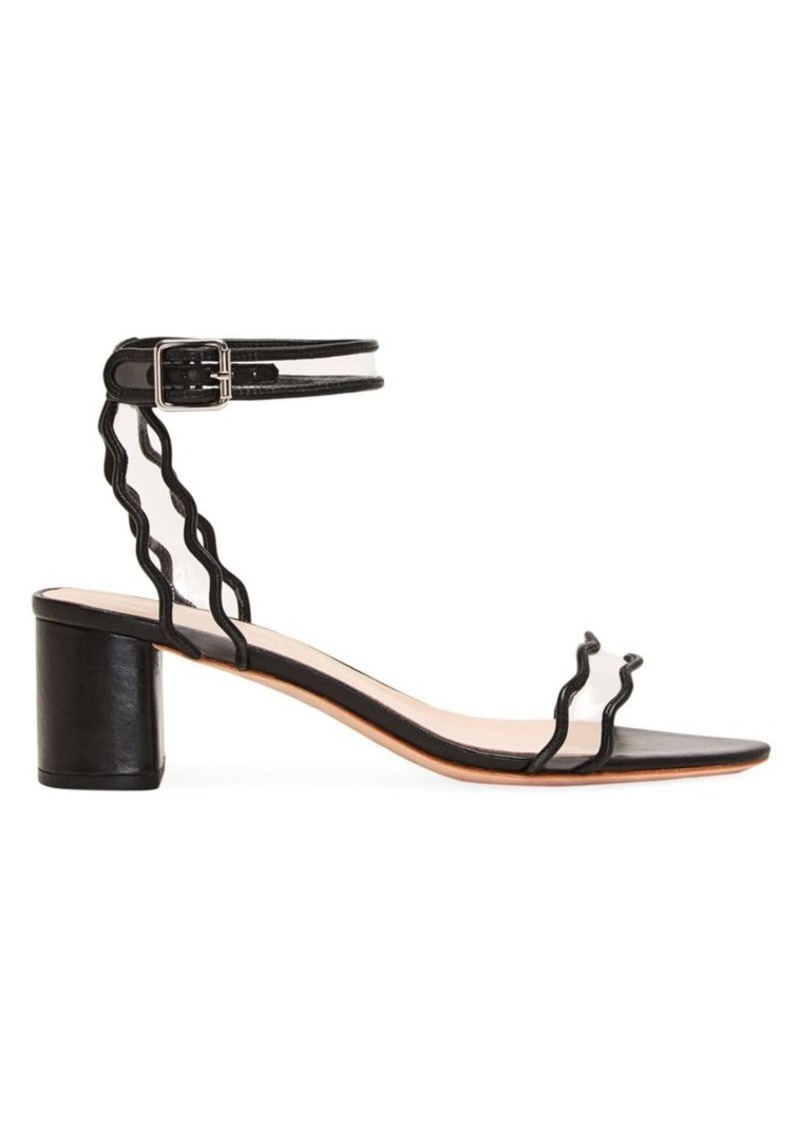 Loeffler Randall Emi Scallop Leather & PVC Sandals