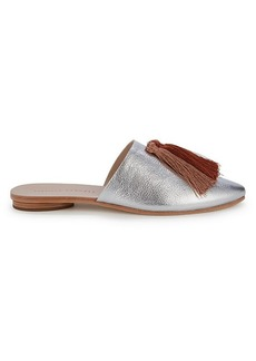Loeffler Randall Winnie Tassel Metallic Leather Mules
