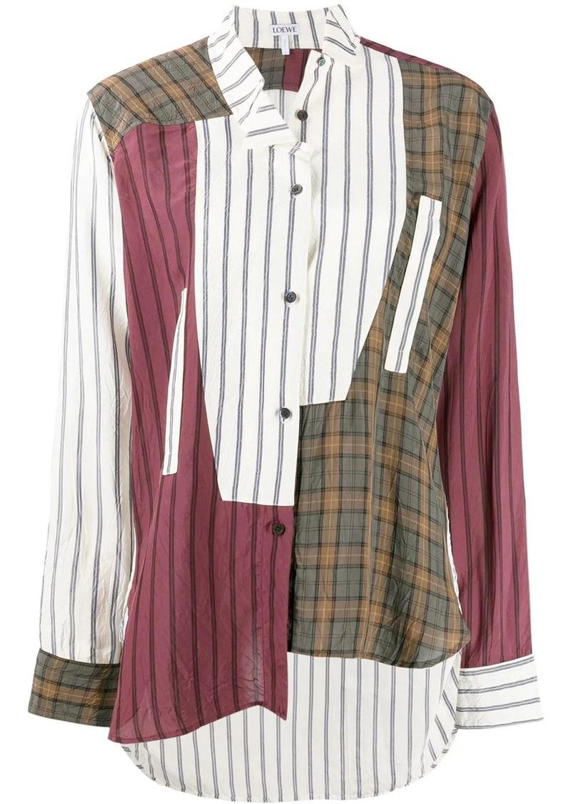 Loewe patchwork check shirt