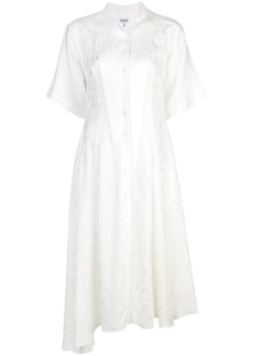 Loewe feather jacquard shirt dress