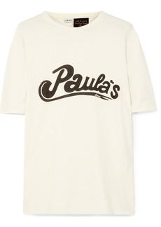 Loewe Paula's Ibiza Oversized Printed Cotton And Silk-blend Jersey T-shirt