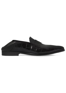 Loewe 20mm Croc Embossed Leather Loafers