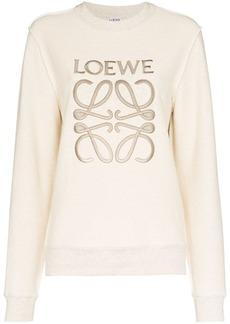 Loewe anagram logo embroidered sweatshirt
