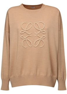Loewe Anagram Logo Knit Wool Blend Sweater