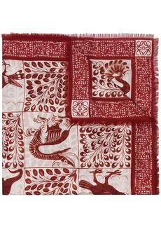 Loewe animal tapestry pattern scarf