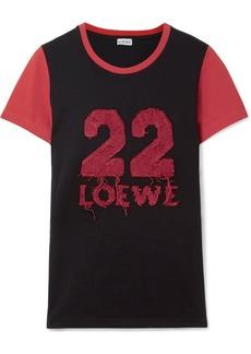 Loewe Appliquéd Cotton-jersey T-shirt