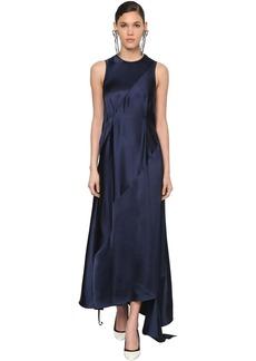 Loewe Asymmetric Back Cut Out Satin Dress