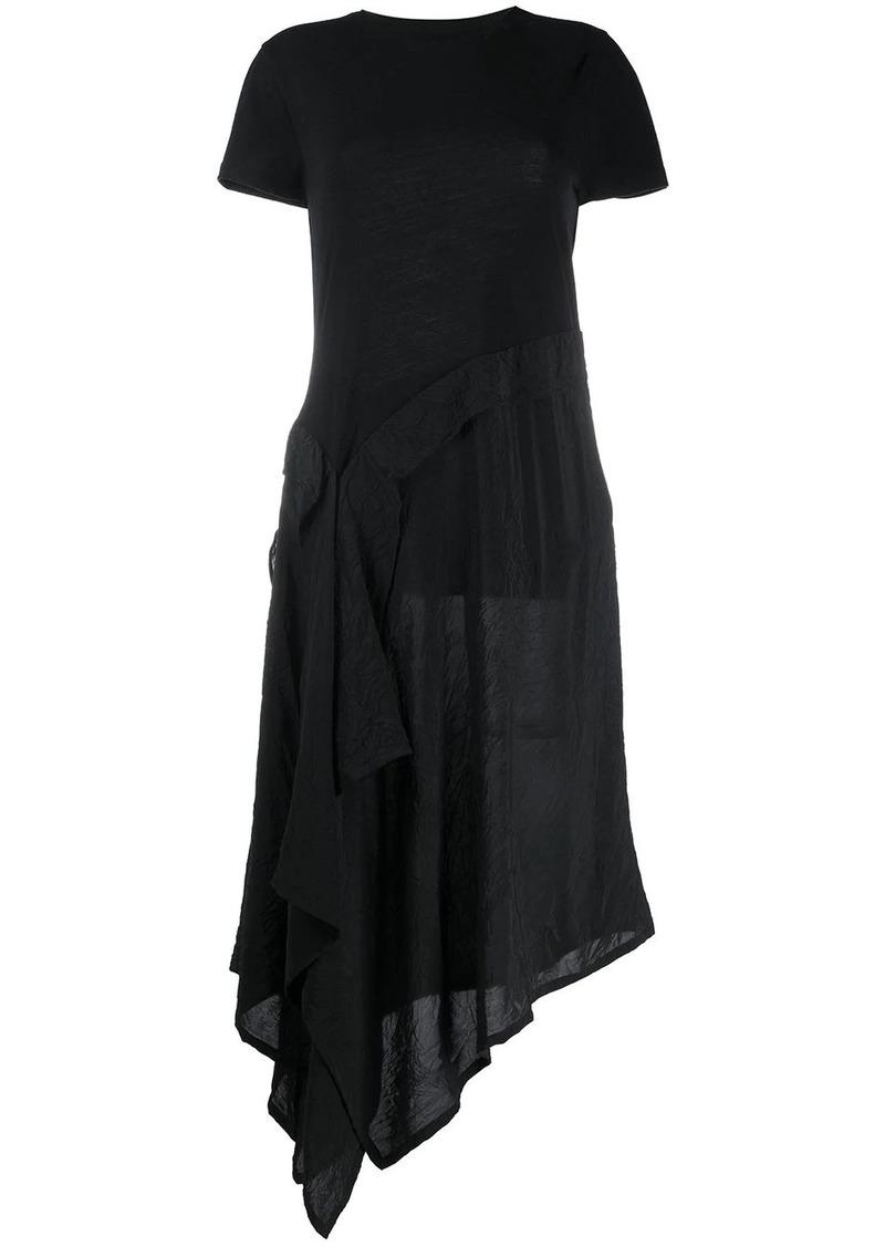 Loewe asymmetric draped midi-dress