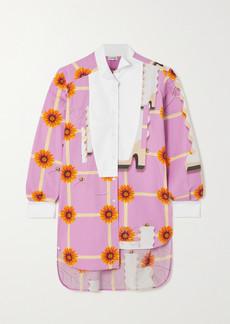 Loewe Asymmetric Floral-print Cotton-poplin Shirt