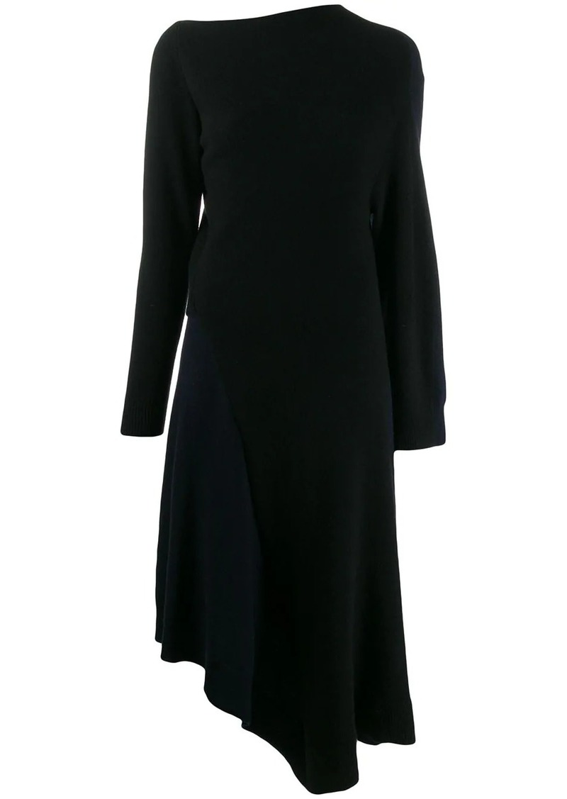 Loewe asymmetric knitted dress
