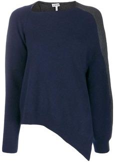 Loewe asymmetric two-tone sweater