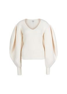 Loewe Balloon sleeve v-neck sweater