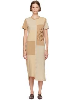 Loewe Beige Patchwork T-Shirt Dress