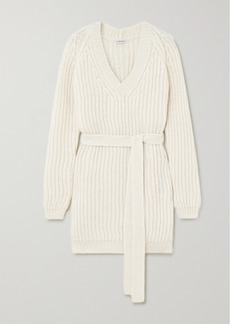 Loewe Belted Ribbed Alpaca-blend Sweater
