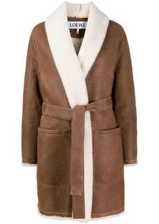 Loewe belted shearling coat