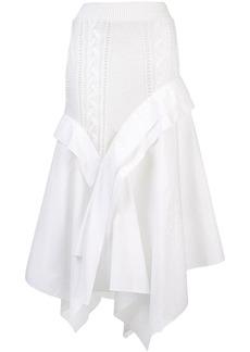 Loewe bi-material asymmetric skirt